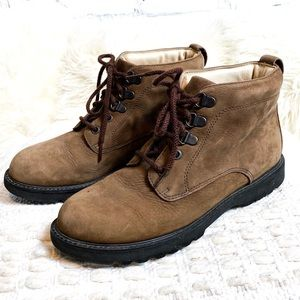 Rockport Leather Combat Hiking Ankle Boots 🥾